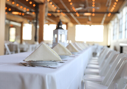 Event Catering White Tables